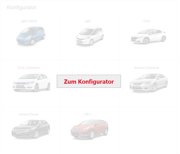Neuwagenkonfigurator Honda
